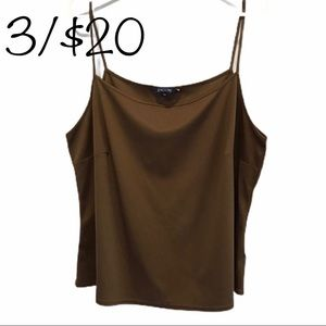 3/$20 Encore brown camisole size 20 tank top